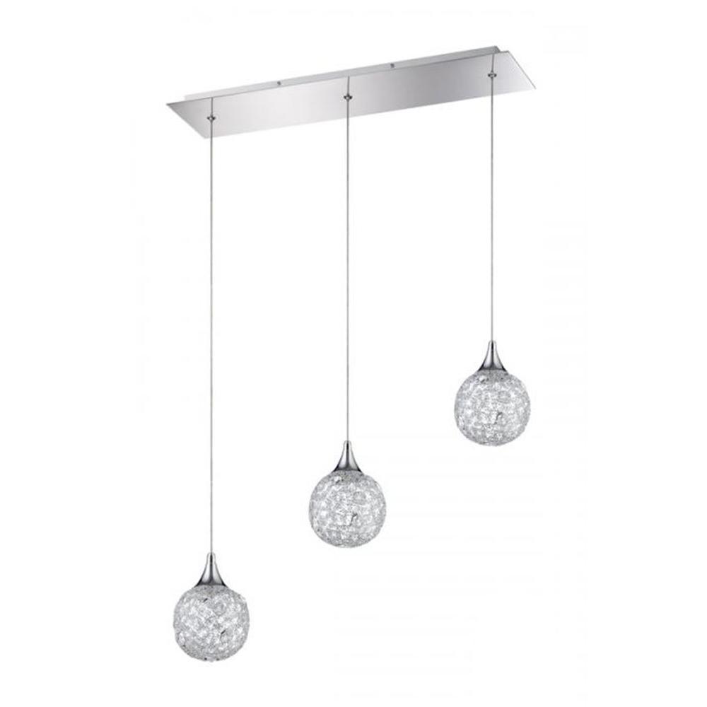 Filament Design Ida 3-Light Chrome Multi Light Pendant