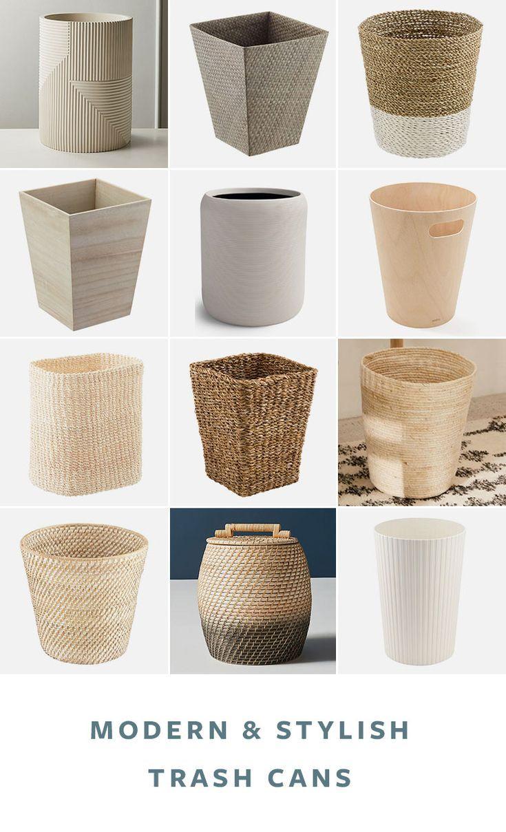 Bathroom Waste Basket, Modern Bathroom Wastebasket