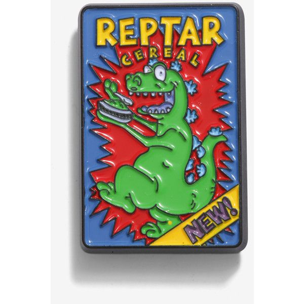 Rugrats Reptar Cereal Enamel Pin ($8.90) Liked On Polyvore