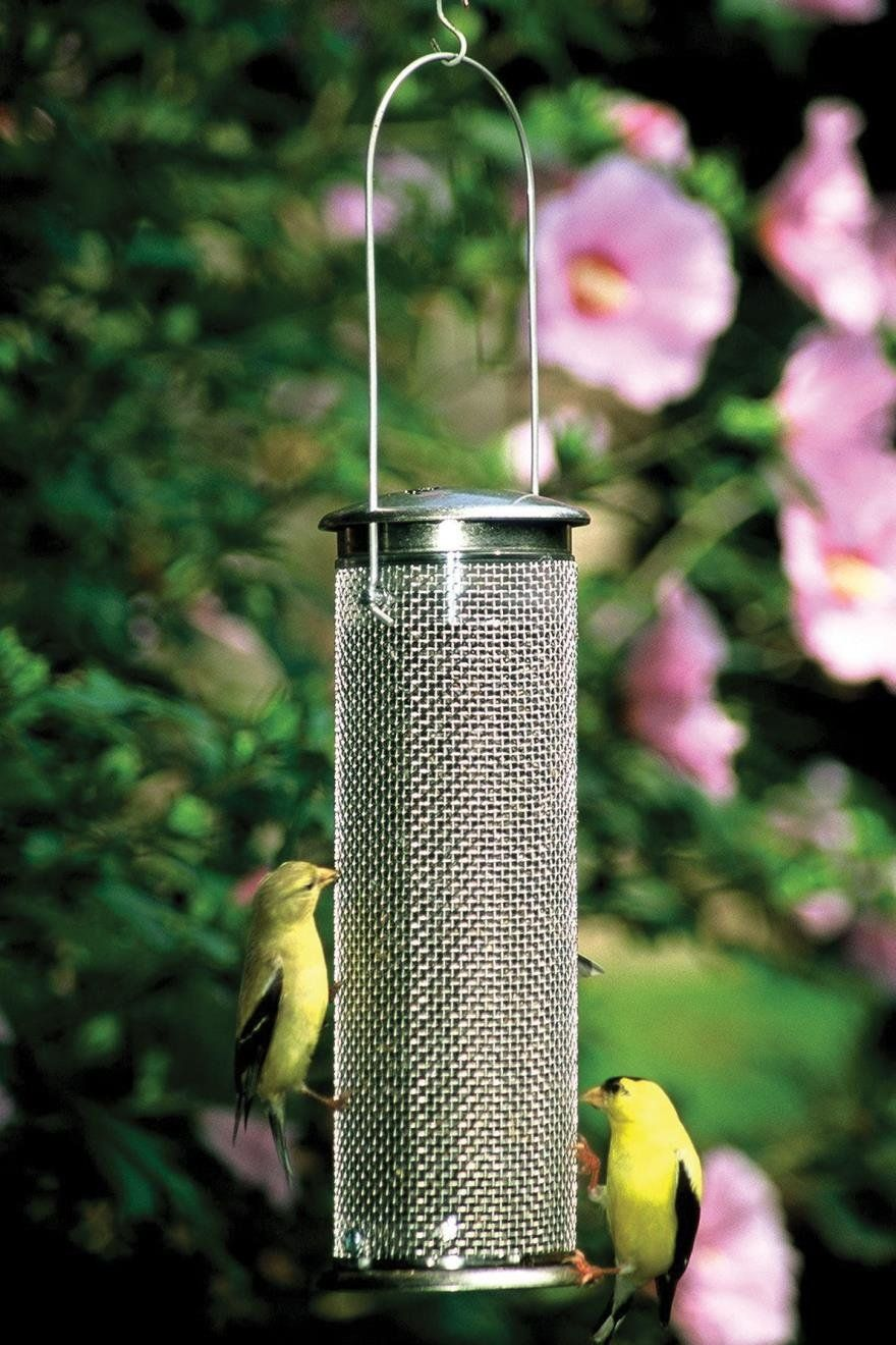 CLASSIC MESH NYJER FEEDER - NYJER MESH SMALL STNLSS STEEL. CLASSIC MESH NYJER FEEDER - NYJER MESH SMALL STNLSS STEEL. Holds tiny nyjer seeds or chopped sunflower kernels<br />.