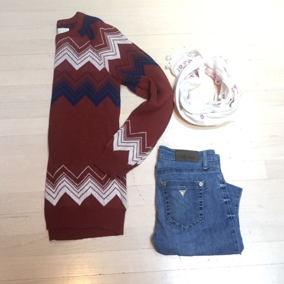 Urban Outfitters Sweater Multi colored sweater. Worn once! Urban Outfitters Sweaters Crew & Scoop Necks