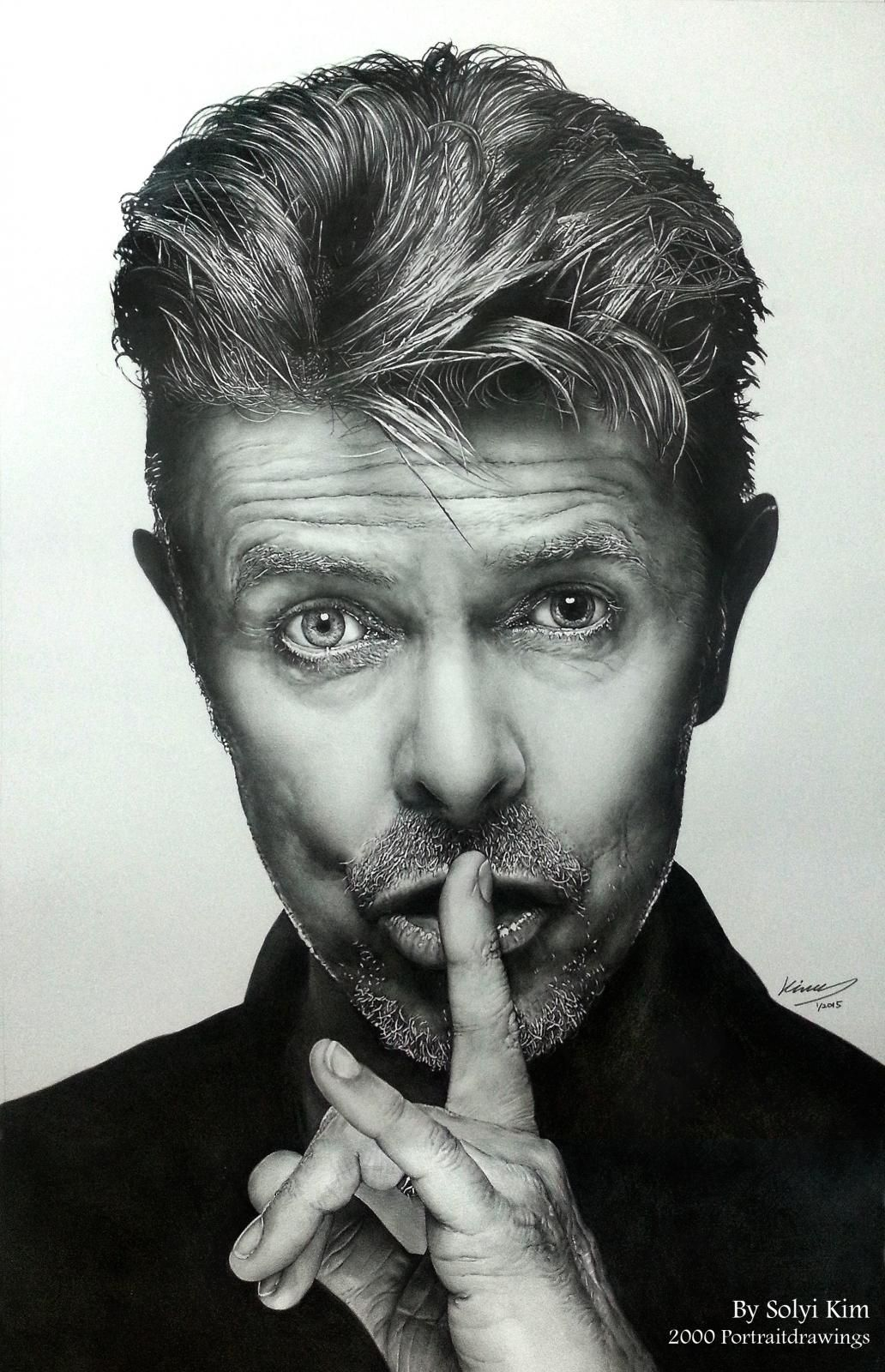 portraits of david bowie by solyi kim hb 2b pencil on paper 385 mm x 605 mm david bowie. Black Bedroom Furniture Sets. Home Design Ideas