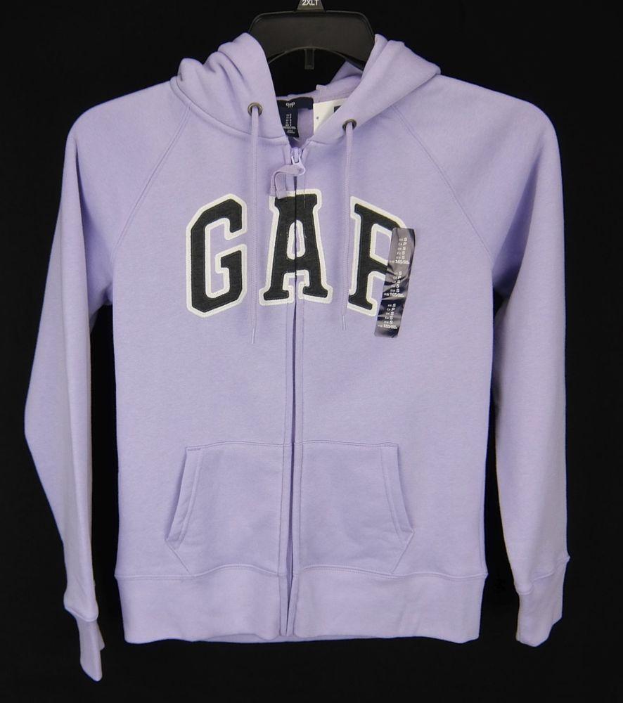 e91d613c2443 Gap Logo Hoodie Sweatshirt Zipper Lilac Women Size S L