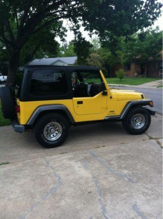 Yellow Jeep Wrangler Automatic 12500 Arlington Uta Campus