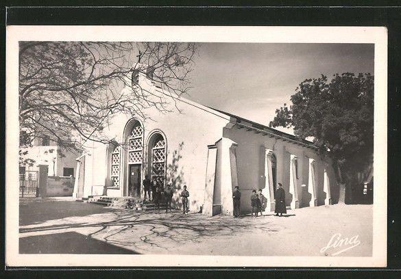 remarquable CPA Bizerte, la nouvelle Chapelle