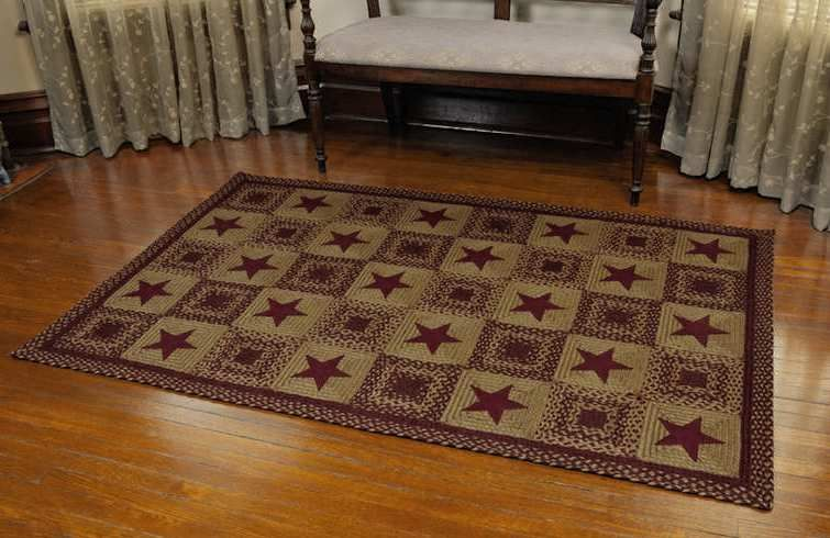 Country Star Braided Rug Primitive Decorating Country Country Rugs Country Primitive