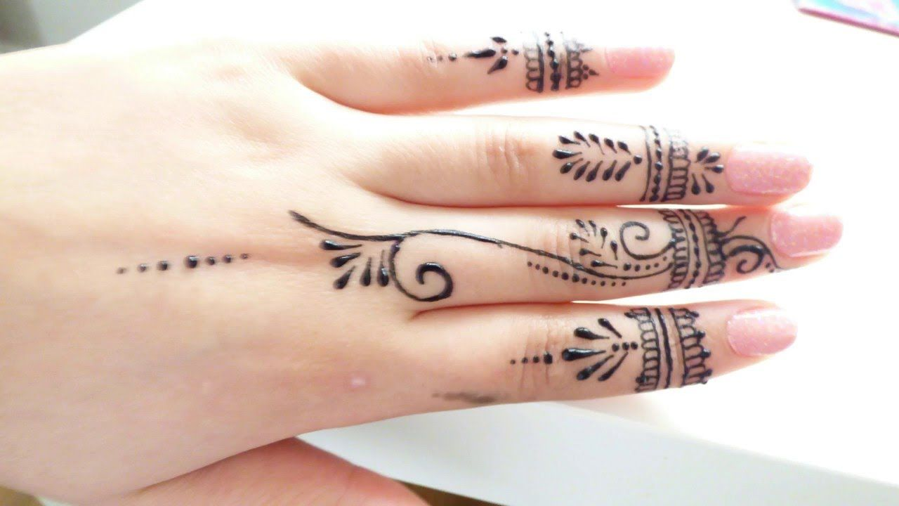 جمالووصفات نقش بسيط وراقي لاصابع اليد Henna Tattoo Designs Simple Henna Designs Feet Henna Tattoo Hand