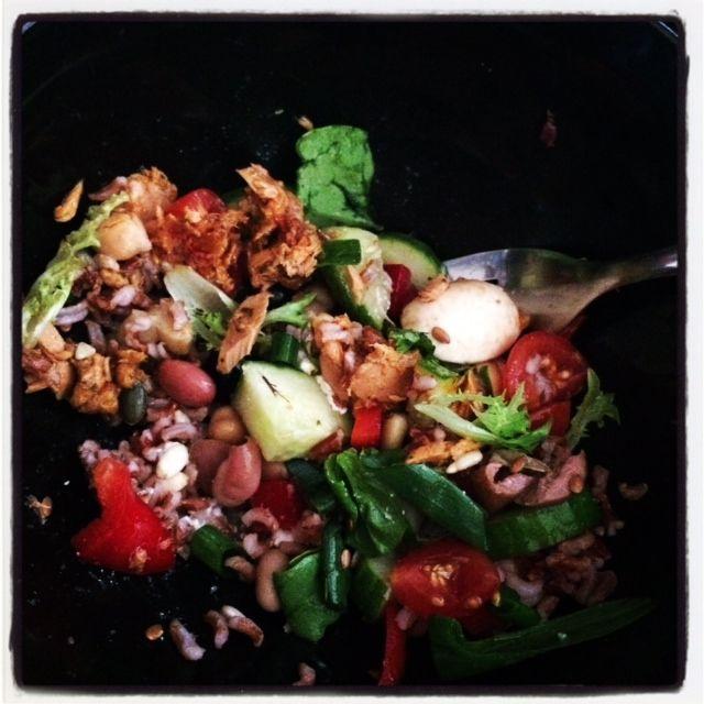 Red rice & Chicken salad