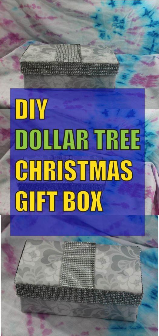 DIY Dollar Tree Christmas Gift Box   Easy christmas gifts, Diy gifts cheap, Christmas gift box