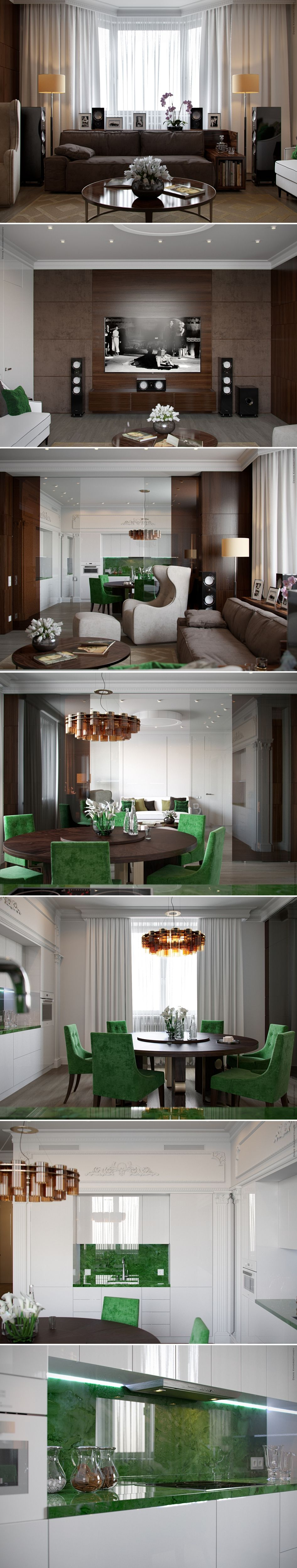 Кухня/гостиная - Галерея 3ddd.ru   Дизайн дома, Гостиная ...