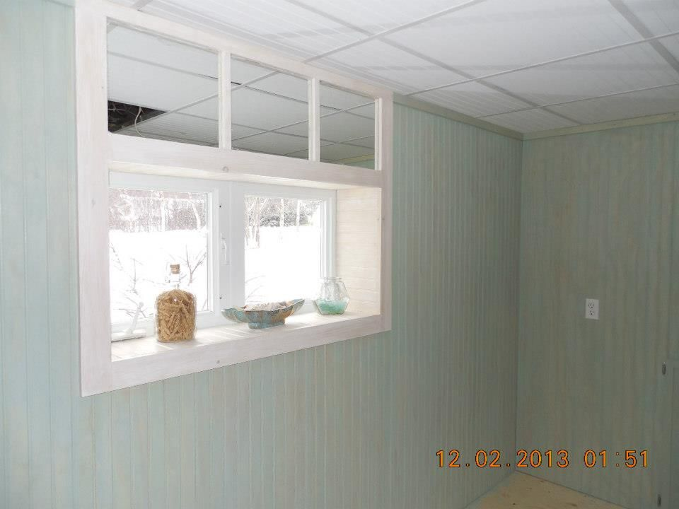 Transom Window Mirror Trick Transom Windows Basement