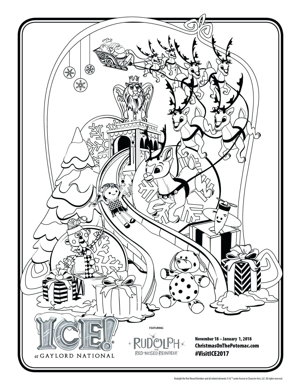 Rudolph The Red Nosed Reindeer Coloring Pages Best Of