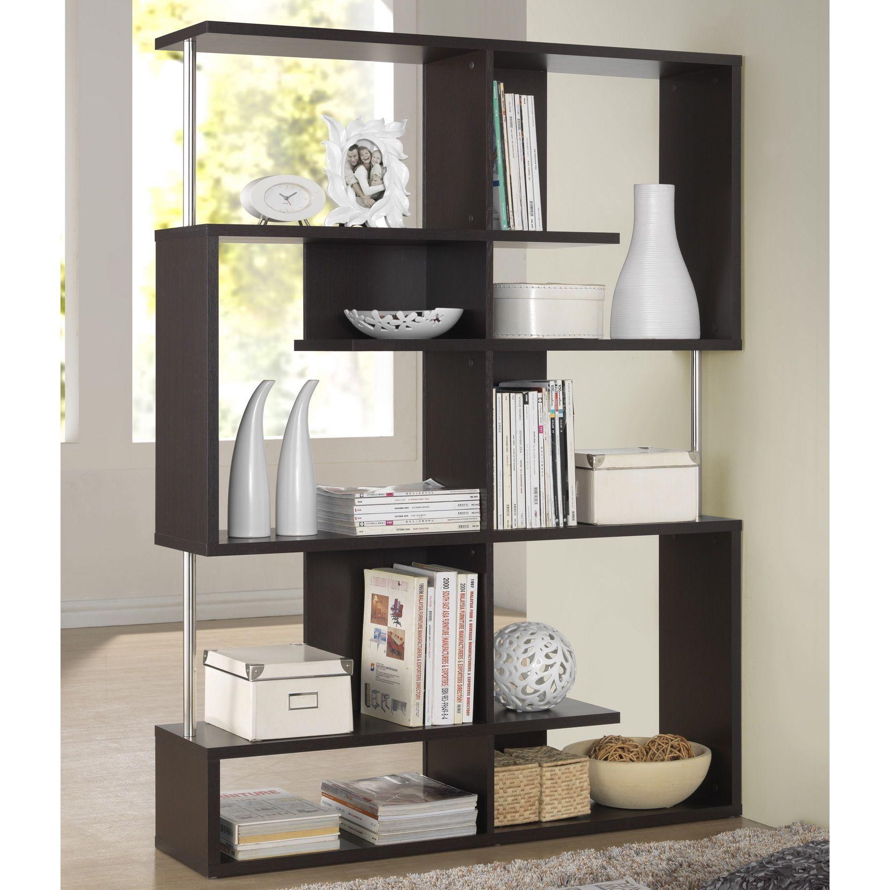 Baxton Studio Kaleb Dark Brown Espresso Modern Storage Shelf