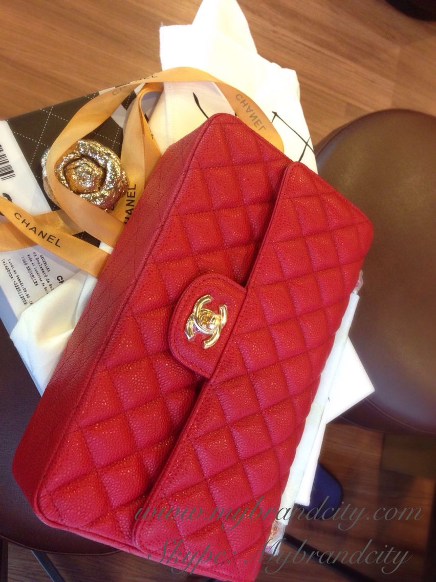 19ff7eb640ec Love purse! Chanel classic 2.55 flap in caviar red, love the match red  color with gold hardware! Charming !