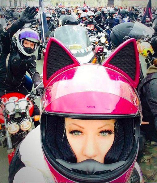 helmet girl cat ears bikermood pink motorcycle motorcycle helmets et motorbike. Black Bedroom Furniture Sets. Home Design Ideas