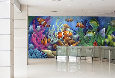 Enjoy Your Favorite Marine Life Every Day With an Aquarium Mural ...