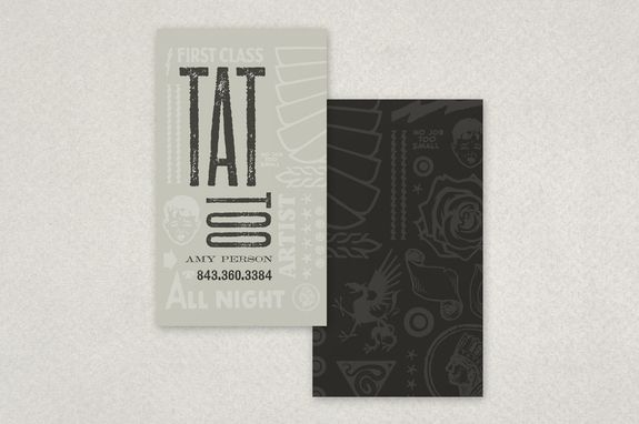 Tattoo Shop Business Card Template Inkd Business Card Template Business Cards Creative Templates Vintage Business Cards