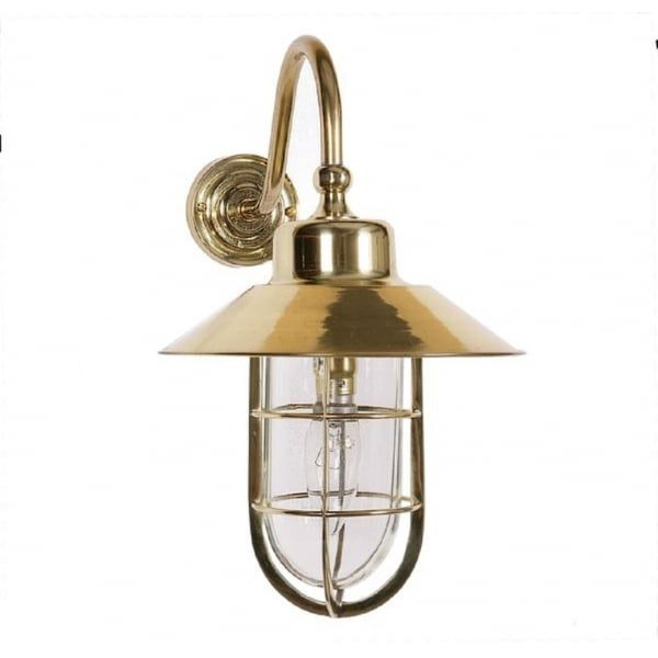 Nautical Style Outdoor Or Indoor Porch Light In Gold Polished