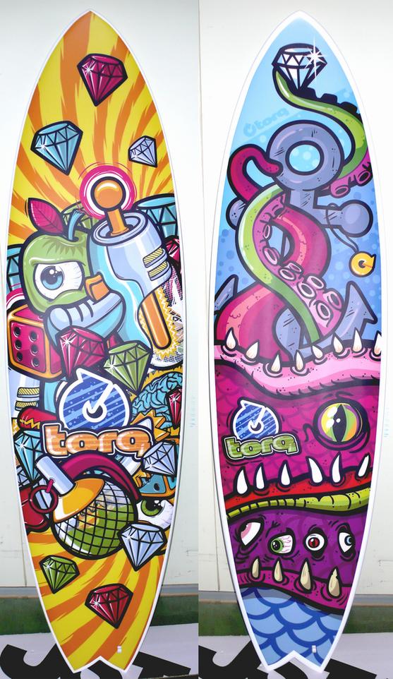 TORQ SURFBOARDS by Konstantin Shalev, via Behance
