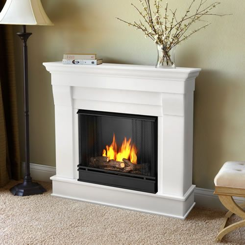 real flame chateau gel fireplace mantel white apartment therapy rh pinterest com