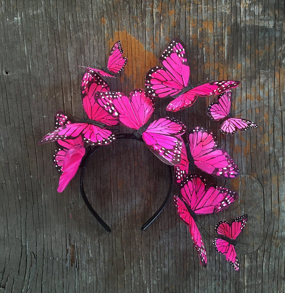 Mexican Pink Monarch Butterfly Crown PINK X LAVENDER