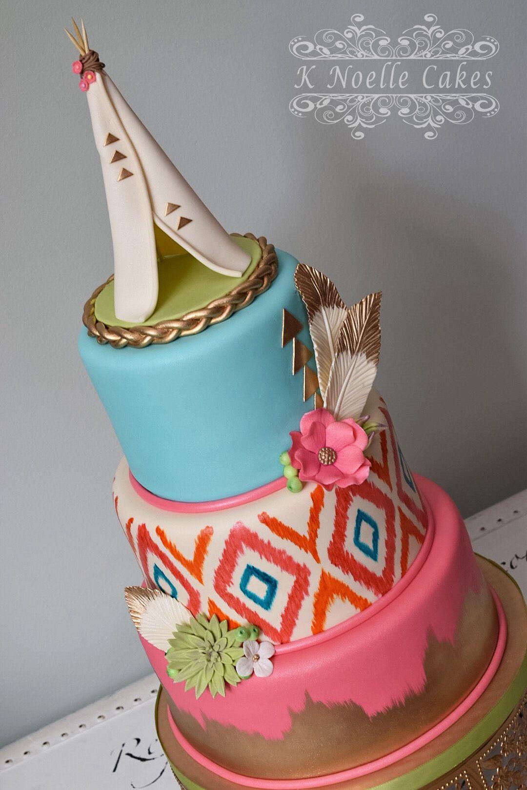 Bohemian Chic Cake By K Noelle Cakes