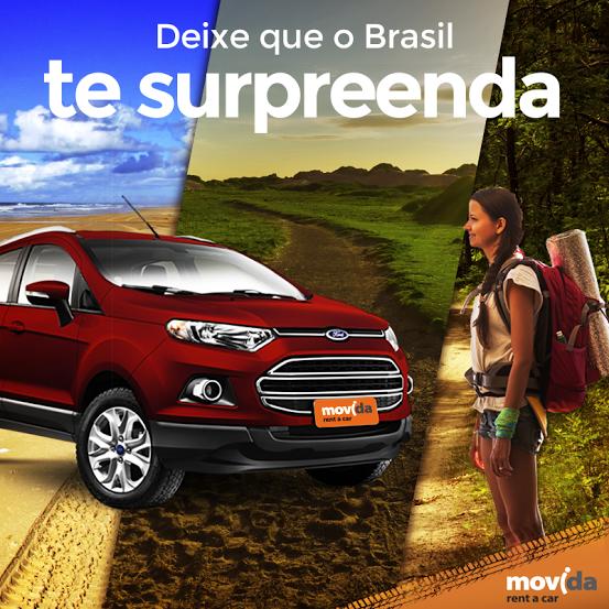 Num país tão grande e bonito como o nosso não faltam lugares incríveis para você desbravar!  Para cada região, a #MovidaRentACar tem o carro perfeito para te acompanhar. ;)