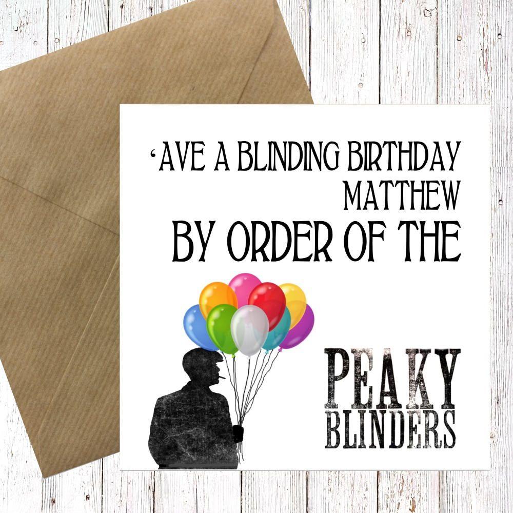 PEAKY BLINDERS Card Personalised Birthday Dad Best Friend Friendship Peaky Blinders