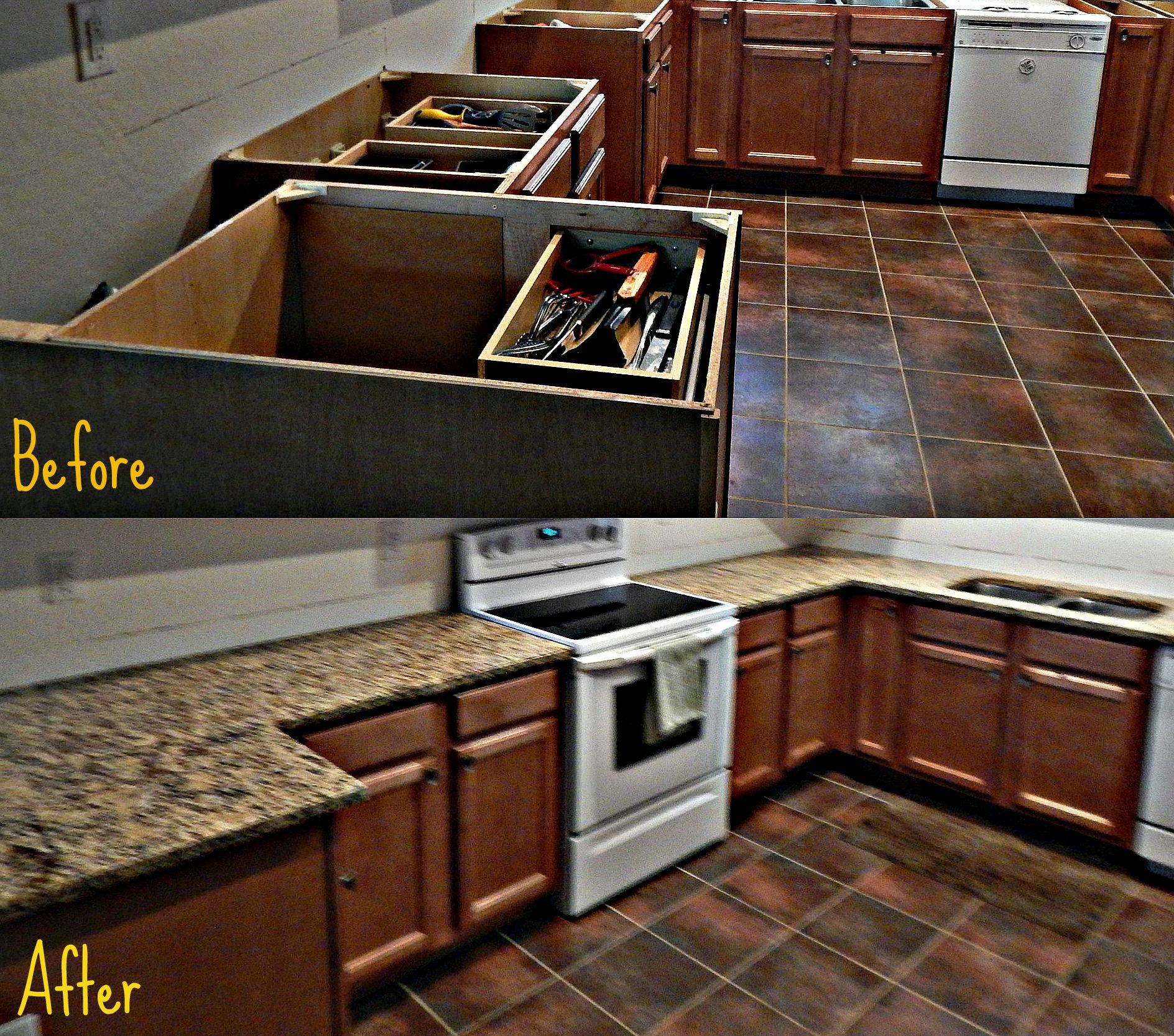 St Cecelia Granite Countertop Remodel With Flat Polish Edge. Call Now For  Your Free Estimate