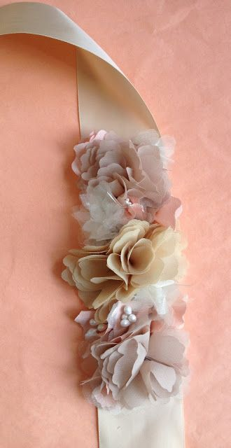 Embellished Sash for the Bride  Its Raining Jelly Beans