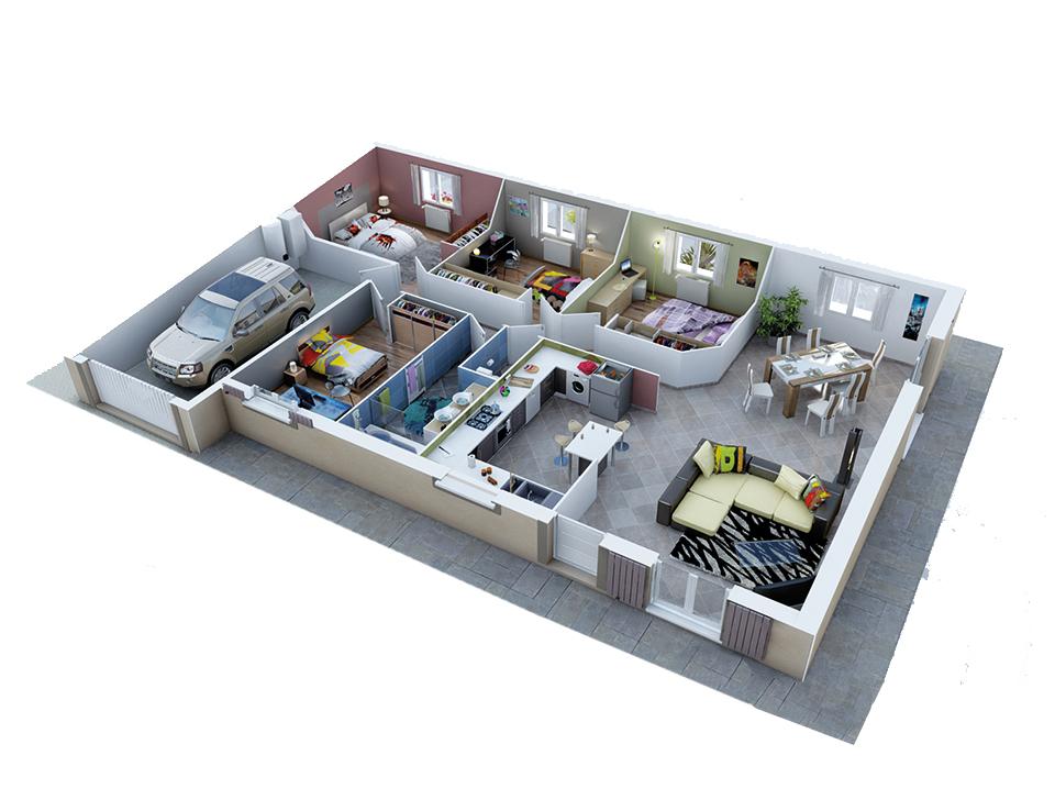Plan Maison Traditionnelle, modèle Créadèle Soleil | Plans de ...