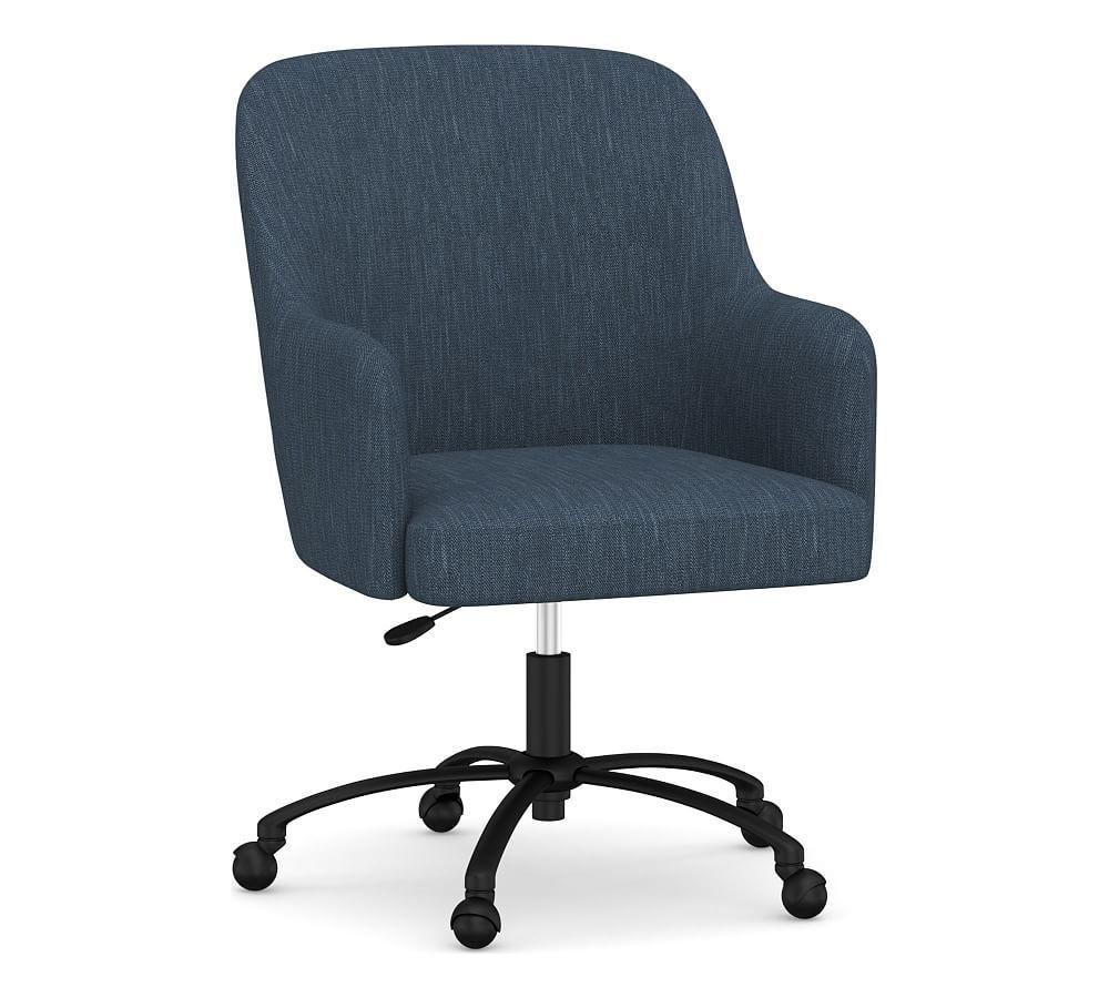 Dublin Upholstered Swivel Desk Chair Upholstered Desk Chair