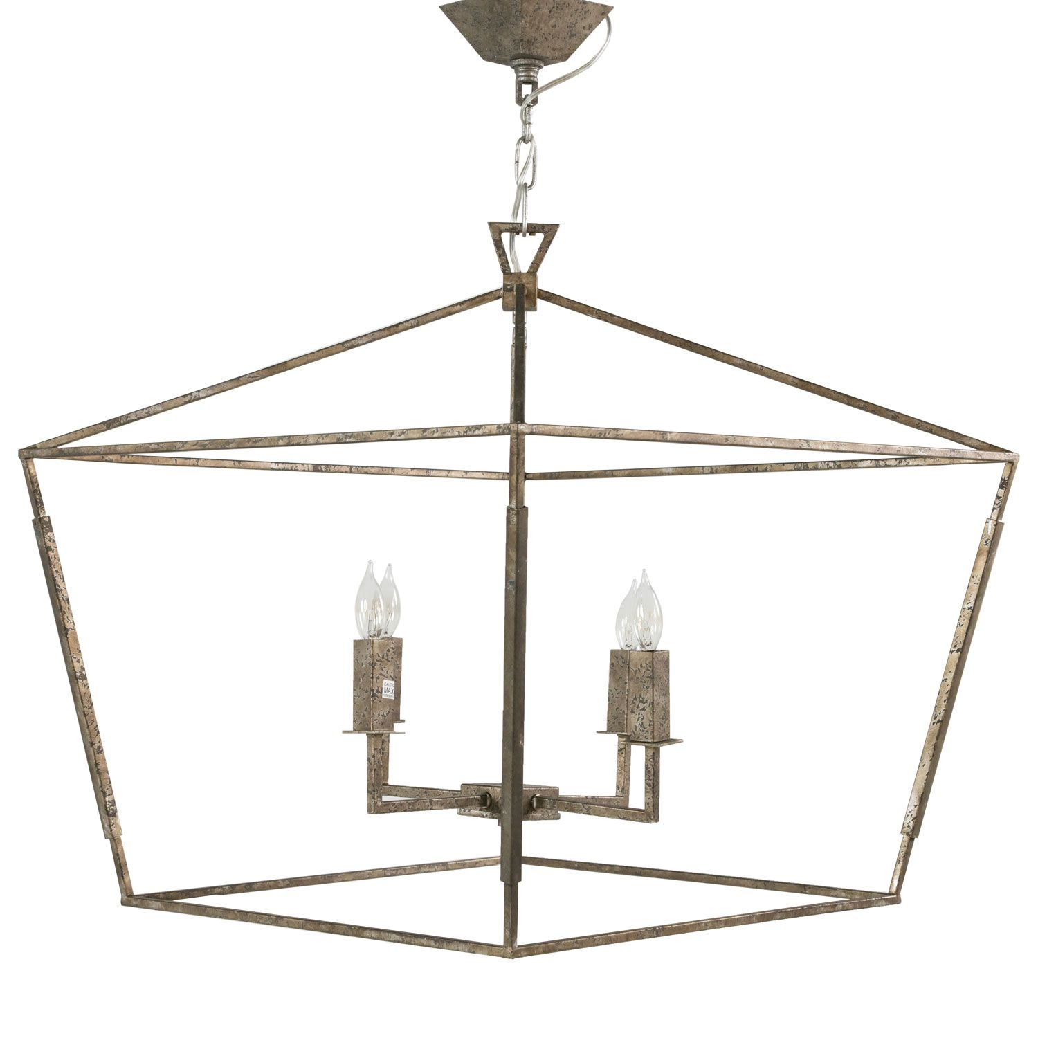 Gabby lighting amelia small chandelier ghsch153440 laylagrayce the small amelia chandelier features a rectangular metal design and transitional style finished in antique silver leaf arubaitofo Images