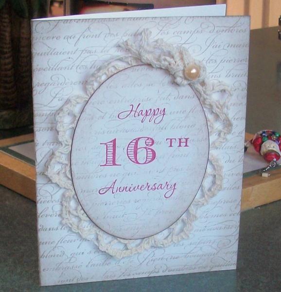 Wt468 16th Anniversary 16th Wedding Anniversary Anniversary Crafts 16th Anniversary