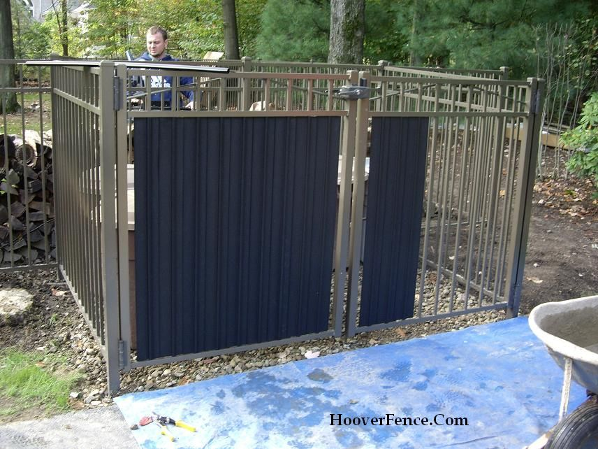 how to add wood to wrought iron fence