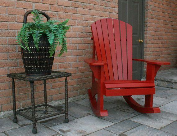 Adirondack Rocking Chair RETROFIT Kit Plans for the Grandpa Chair - plan pour fabriquer un banc de jardin