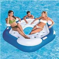 Bestway 3 Person Floating Island 43111e Inflatable Island Inflatable Floating Island Floating In Water
