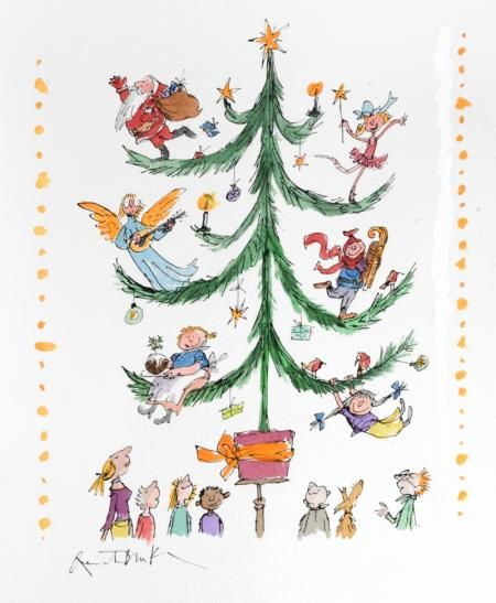 Christmas Tree By Sir Quentin Blake