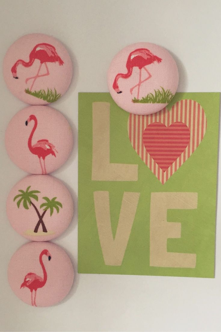 Flamingo magnet set fabric covered button fridge magnets set of 5 flamingo magnet set fabric covered button fridge magnets set of 5 in gift tin gamestrikefo Choice Image