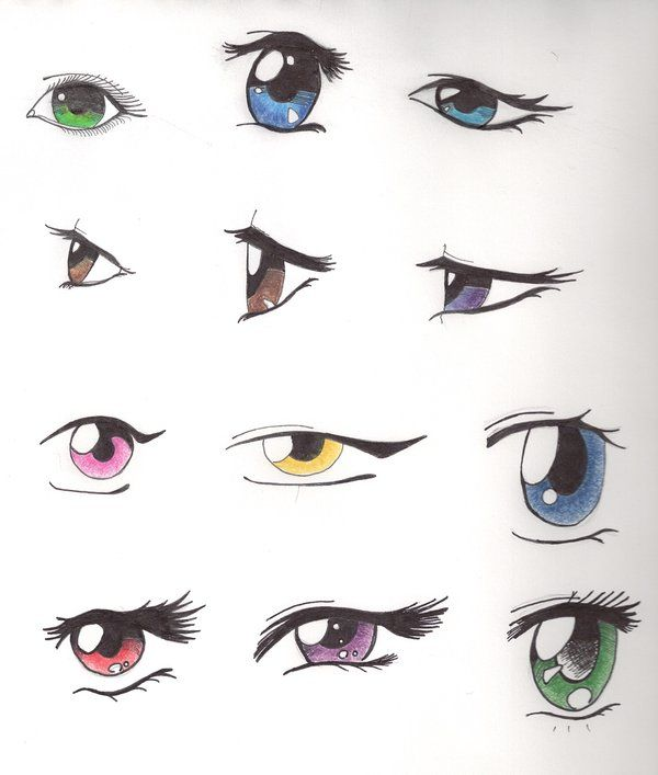 Anime Eyes By Icepanthress On Deviantart Anime Character Drawing Anime Eyes Anime Drawings