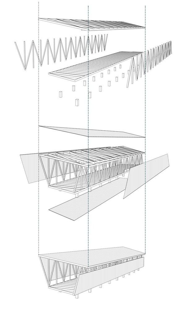 21 Detailed Construction Sections for Wood Structures,Morerava Cabins / AATA Arquitectos