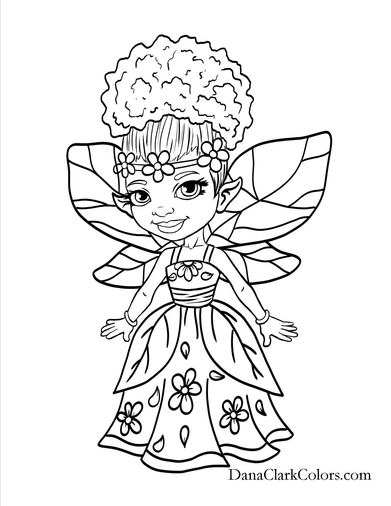 Free Coloring Pages Danaclarkcolors Com Fairy Coloring Pages Free Coloring Pages Angel Coloring Pages