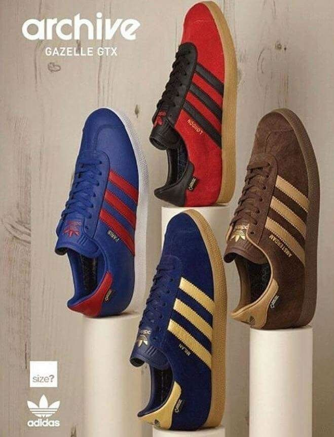 size 40 e9099 9922c Crackin adidas poster showing the new Gazelle archive with 3 new releases  still to come - Amsterdam, Paris and Milan