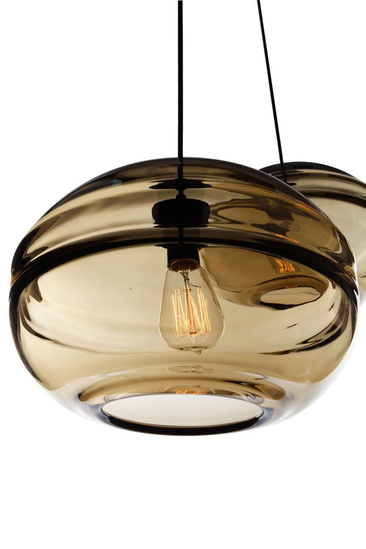 Blown-Glass Clear Band Pendant Collection Of Organic