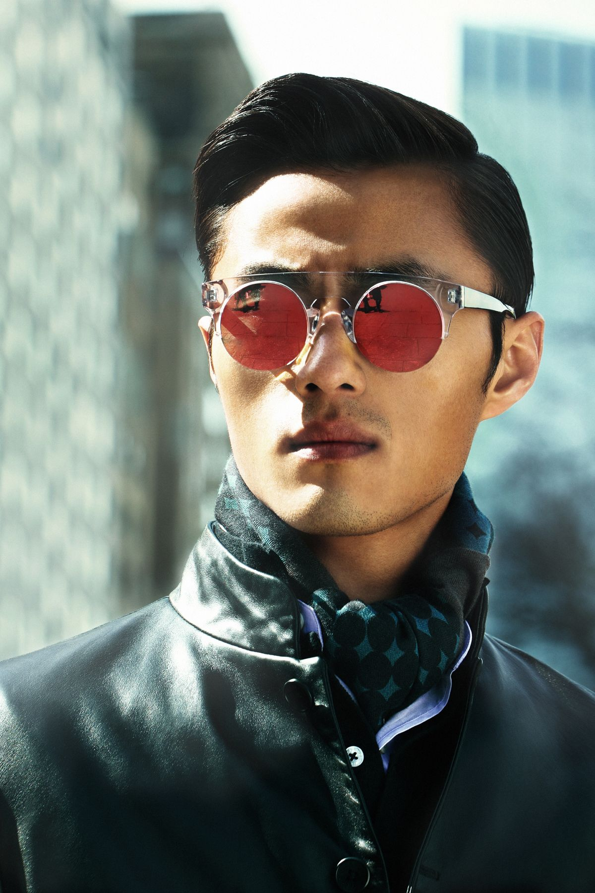 Zhao Lei Authentic Chinese Round Glasses Campaign - collaboration Shanghai Tang x AM Eyewear