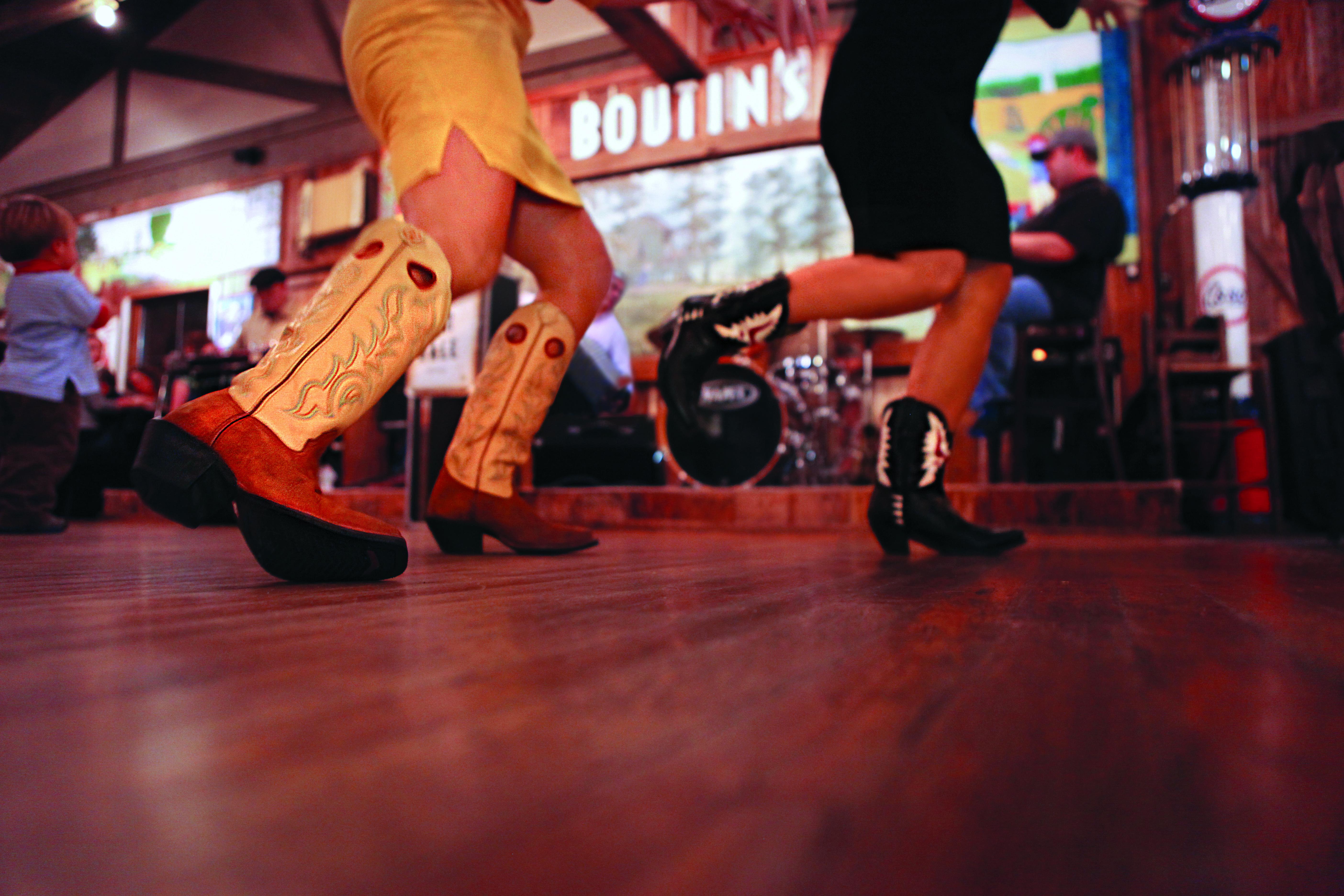 Dancing at boutins cajun restaurant south louisiana