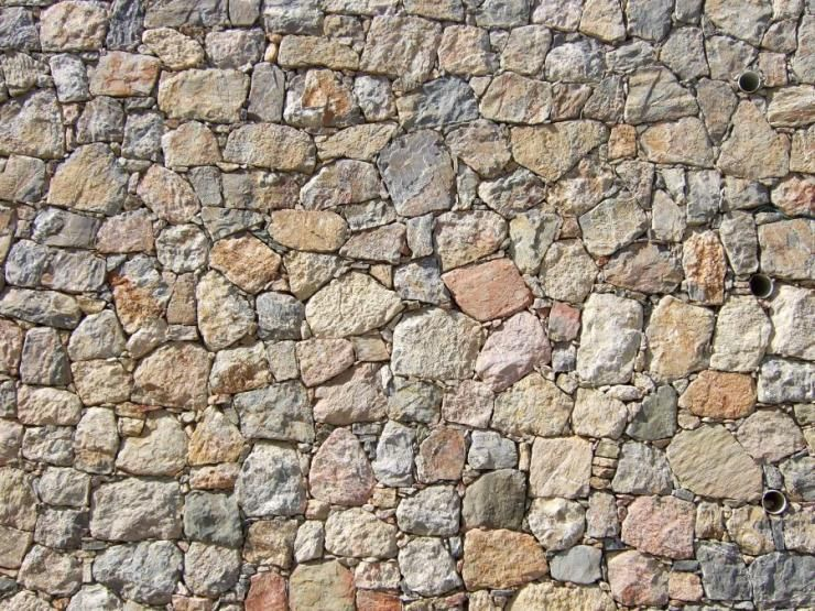 Natural Building Materials : Natural eclectic stones are all different shapes sizes