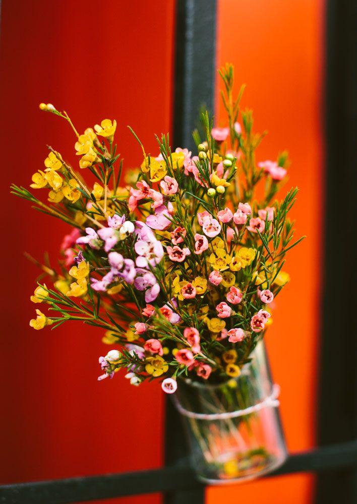 floral flowers glass decor decoration love wedding reception | Jen + Kat | Los Angeles Stylish Same Sex Wedding | Jenn Emerling Weddings
