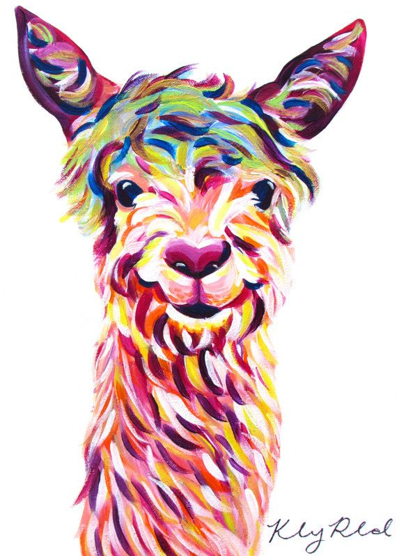 Colorful Llama Painting