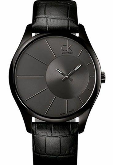 9fdfe9f43296 Montre Calvin Klein noire - CK Deluxe en PVD noir